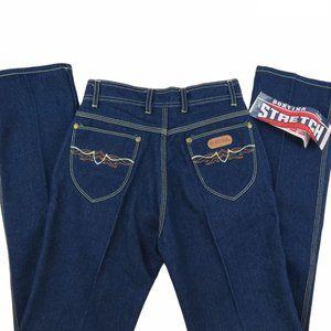 Vintage 70s Dark Wash High Rise Straight Jeans NWT